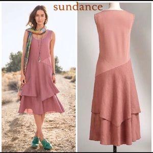 Sundance Catalog Linen Hazy Isles Dress M Casual